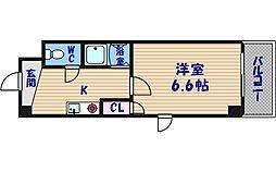 大阪府大阪市西区南堀江1丁目の賃貸マンションの間取り