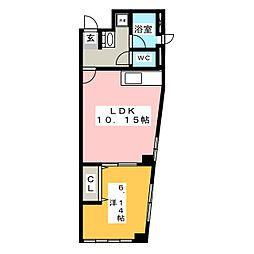 高杉マンションIII[2階]の間取り