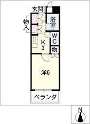 WEST POINT[5階]の間取り
