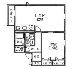 東京都板橋区徳丸4丁目の賃貸アパートの間取り