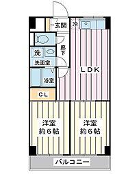 清和浦安マンション[3階]の間取り