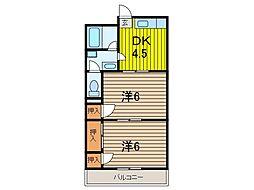 プラザ三田[3階]の間取り