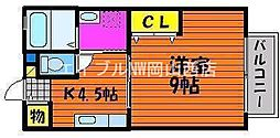 サニースクエア西崎[1階]の間取り
