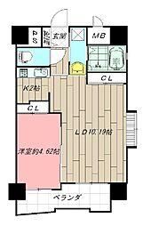 ブルースクエアー響III[6階]の間取り