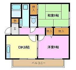 第10吉原ハイツ(ダイ10ヨシハラハイツ)[2階]の間取り
