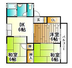 セトルメント六甲C棟[1階]の間取り