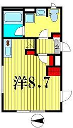 都営新宿線 菊川駅 徒歩5分の賃貸マンション 5階ワンルームの間取り