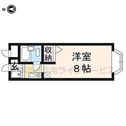京都府京都市東山区塗師屋町の賃貸アパートの間取り