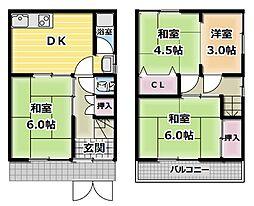 [一戸建] 大阪府守口市藤田町1丁目 の賃貸【/】の間取り