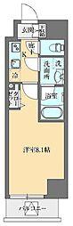 東京メトロ丸ノ内線 御茶ノ水駅 徒歩11分の賃貸マンション 12階1Kの間取り