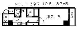 サムティ松屋町[503号室号室]の間取り