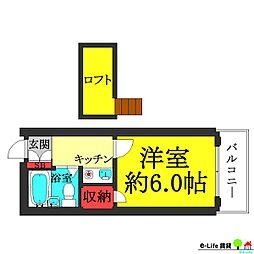 レオパレス矢田第3[1階]の間取り
