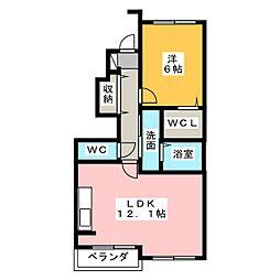 サニーホームII[1階]の間取り