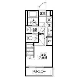 エクセレンス日吉本町[2階]の間取り