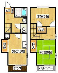 ヴィラ岡本 B棟[1階]の間取り