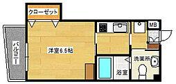 古船場タカヤコーポレーションビル 6階1Kの間取り