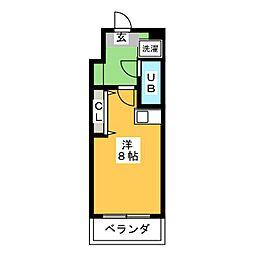 フレクション浜松[4階]の間取り