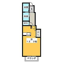 パル・ソレイユ[1階]の間取り