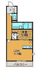 FORZA柿生[2階]の間取り