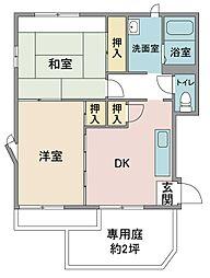 田口ハイツ[1階]の間取り