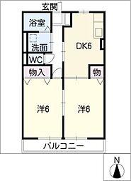 レトア高根A棟[1階]の間取り