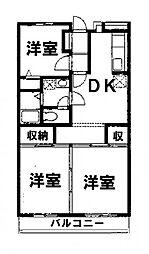 渋谷ヴィラ2[3階]の間取り