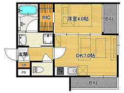仮)伏見桃山デザイナーズマンション[302号室]の間取り
