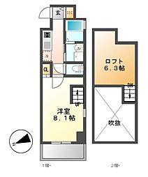 Gstyle栄東(ジースタイル)[4階]の間取り