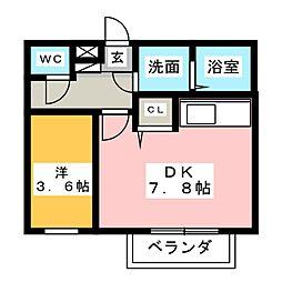 Leciel桜本町II[1階]の間取り