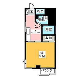 アマディス山崎[2階]の間取り
