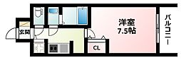 Osaka Metro御堂筋線 江坂駅 徒歩7分の賃貸マンション 3階1Kの間取り