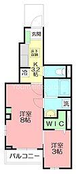 ホワイトウェル湘南 1階1SKの間取り