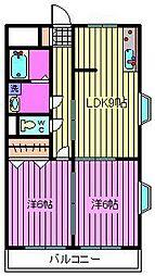 TWIN ELLE HOUSE[305号室]の間取り