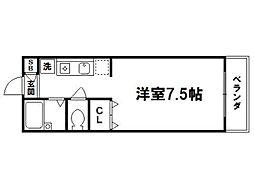 ルミエール松ヶ崎[1階]の間取り