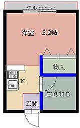 風(女子専用)[5階]の間取り
