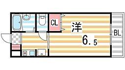 ステューディオ灰塚[1階]の間取り