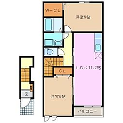 KIZUNA青山A[2階]の間取り