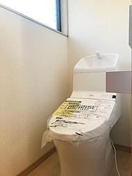 保温・洗浄機能付きの新規交換済みトイレ。