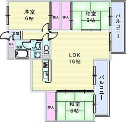 ロイヤルグレース上野東[303号室]の間取り