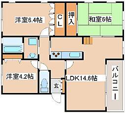 兵庫県神戸市西区竹の台2丁目の賃貸マンションの間取り