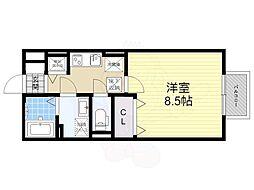 阪急今津線 逆瀬川駅 徒歩5分の賃貸アパート 1階1Kの間取り