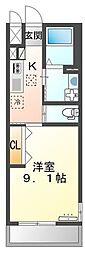 高松琴平電気鉄道琴平線 太田駅 徒歩8分の賃貸アパート 1階1Kの間取り