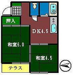 ドエルタカハシ[103号室]の間取り