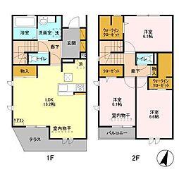 仮)D−roomセントラルパークC[102号室]の間取り