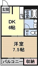 レジデンス山本2[105号室号室]の間取り