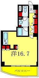 文京グリーンコートビュータワー本駒込B棟 17階ワンルームの間取り