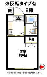 エンゼル西生田B棟[2階]の間取り