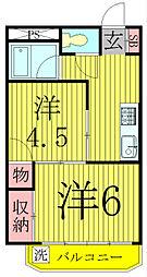 千葉県我孫子市つくし野7丁目の賃貸マンションの間取り