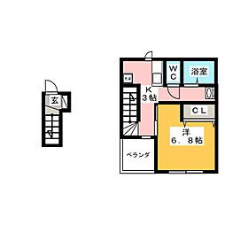 RELUXIA 北棟[2階]の間取り