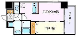 名鉄名古屋本線 山王駅 徒歩9分の賃貸マンション 2階1LDKの間取り